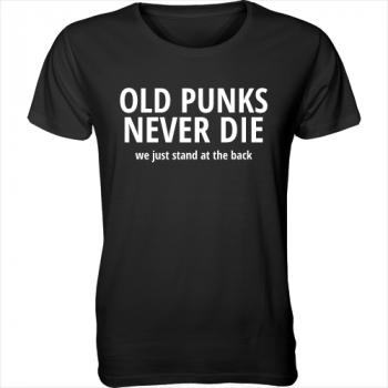 T-Shirt mit Flockaufdruck Old Punks never die