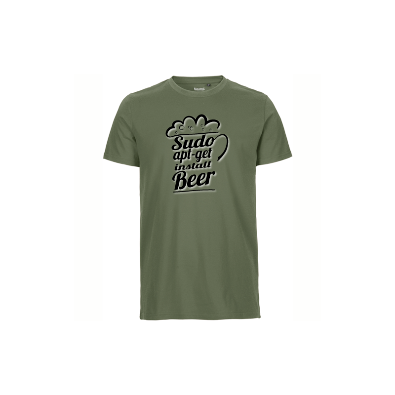 Sudo apt get install Beer military T-Shirt bedrucken