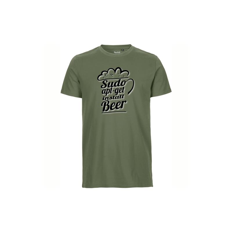 Sudo apt get install Beer military T-Shirt bedrucken