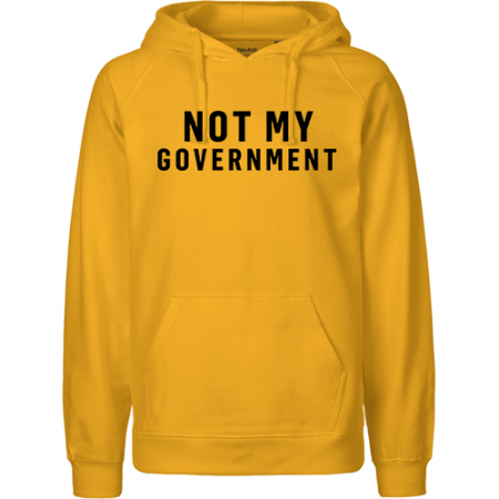 NOT MY GOVERNMENT Herren Hoodie