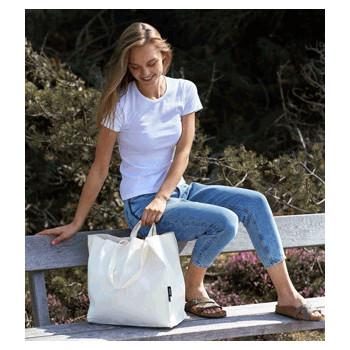 """Praktische Stofftasche aus Bio-Baumwolle """"Neutral Twill Bag"""" Multiple Handles - 26"""